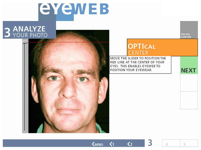 Eyeweb / Lenscrafters kiosk
